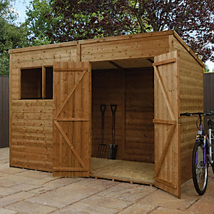 Mercia 10 x 7 ft Pressure Treated Pent Shed