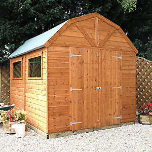 Mercia 10 x 8 ft Premium Timber Shiplap Apex Dutch Barn Shed