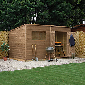 Mercia 12 x 5 ft Pressure Treated Pent Shed