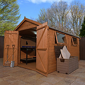 Mercia 12 x 8 ft Premium Shiplap Apex Garden Workshop