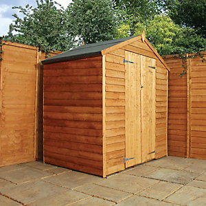 Mercia 4 x 6 ft Double Door Windowless Timber Overlap Apex Shed Best Price, Cheapest Prices