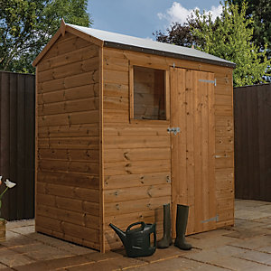 Mercia 6 x 4 ft Pressure Treated Shiplap Reverse Apex Shed