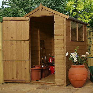 Mercia 6 x 4 ft Timber Shiplap Apex Shed