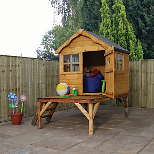 Mercia 6 x 5 ft Timber Snug Playhouse with Tower
