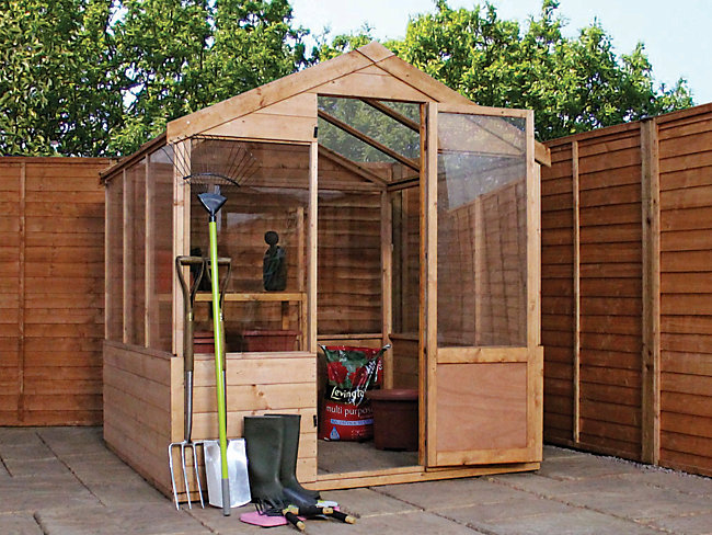 Mercia 6 x 6 ft Wooden Apex Greenhouse