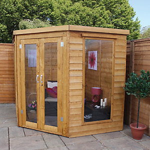 Mercia 7 x 7 ft Elegant Corner Summerhouse with Double Doors