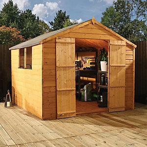 Mercia 7 x 7 ft Timber Shiplap Apex Shed