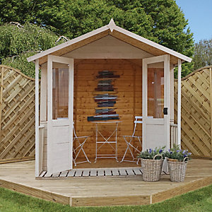 Mercia 7 x 8 ft Traditional Double Door Summerhouse with Veranda