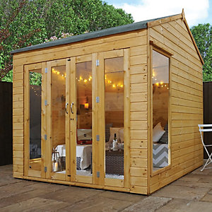 Mercia 8 x 8 ft Vermont Summerhouse with Double Bi-Fold Doors