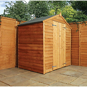 Mercia Double Door Windowless Timber Overlap Apex Shed - 4 x 6 ft