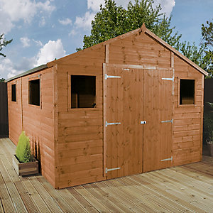 Mercia Large Premium Shiplap Apex Garden Workshop - 16 x 10 ft