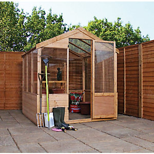 Mercia Large Wooden Apex Greenhouse - 8 x 6 ft