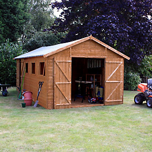Mercia Premium Shiplap Apex Large Garden Workshop - 20 x 10 ft