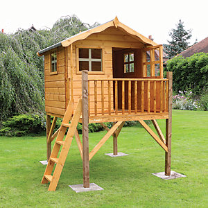 Mercia Timber Poppy Playhouse with Tower - 7 x 5 ft