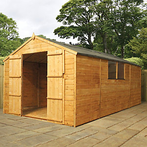 Mercia Timber Shiplap Apex Shed - 13 x 7 ft Best Price, Cheapest Prices