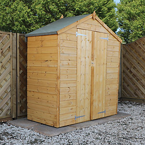 Mercia Timber Shiplap Apex Shed - 3 x 6 ft