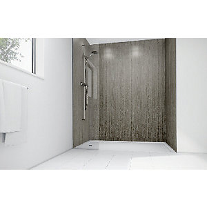 Mermaid Milanese Stone Laminate 3 Sided Shower Panel Kit