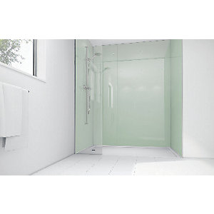 Mermaid Mint Acrylic Single Shower Panel