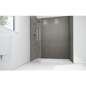 Mermaid Nickel Gloss Laminate Single Shower Panel