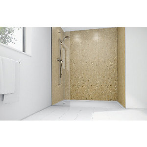 Mermaid Sandstone Laminate 3 sided Shower Panel Kit