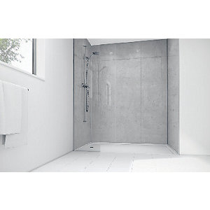 Mermaid White Mist Laminate 3 sided Shower Panel Kit