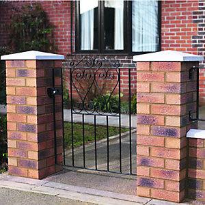 Wickes Chelsea Bow Top Steel Gate Black - 914 x 900 mm