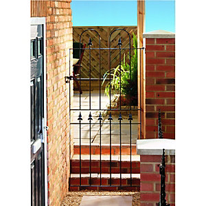Wickes Kensington Steel Gate Black - 914 x 1795 mm