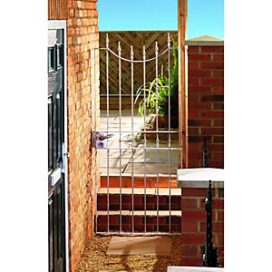 Wickes Windsor Galvanised Steel Gate Silver - 914 x 1880 mm