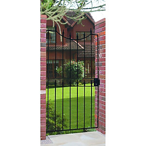 Wickes Windsor Steel Gate Black - 914 x 1880 mm