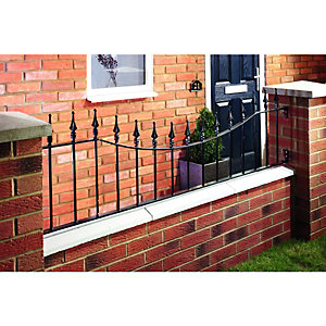 Wickes Windsor Wall Railing Black - 515 x 1830mm
