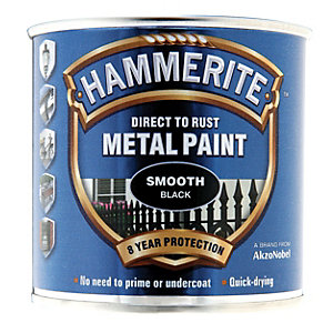 Hammerite Metal Paint - Smooth Black 250ml