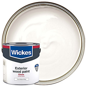 Wickes Exterior Gloss Paint - Brilliant White 2.5L