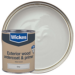 Wickes Exterior Primer & Undercoat Paint Grey 750ml