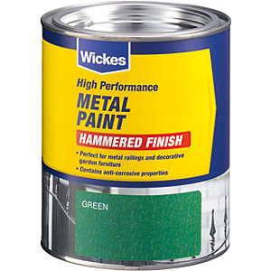 Wickes Metal Paint Hammered Finish Green 750ml