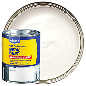 Wickes Metal Paint - Hammered White 750ml