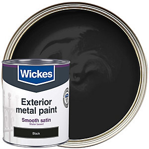 Wickes Metal Paint Smooth Finish Satin Black 750ml