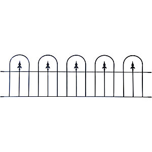 Wickes Kensington Metal Wall Railing - 510 x 1830mm