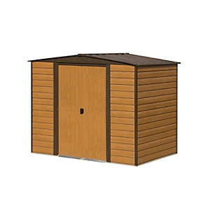 Rowlinson 8 x 6 ft Woodvale Double Door Metal Apex Shed without Floor