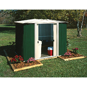 Rowlinson Double Door Metal Apex Shed including Floor - 8 x 6 ft