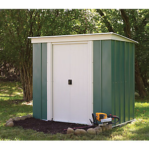 Rowlinson Double Door Metal Pent Shed without Floor - 6 x 4 ft