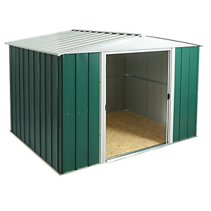 Rowlinson Large Metal Double Door Apex Shed including Floor - 10 x 8 ft