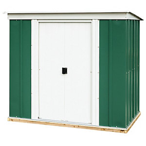 Rowlinson Metal Pent Shed with Floor - 6 x 4 ft