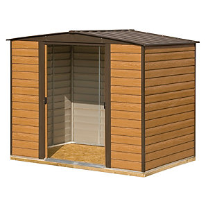 Rowlinson Woodvale Large Double Door Metal Apex Shed including Floor - 10 x 6 ft