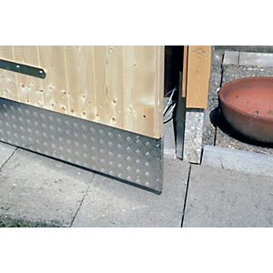 Wickes Metal Sheet Aluminium Checkerplate - 300mm x 1m