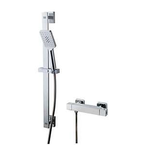 Wickes Malvern Thermostatic Mixer Shower Kit - Chrome