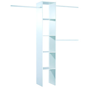 Spacepro Interior Wardrobe Storage Unit White
