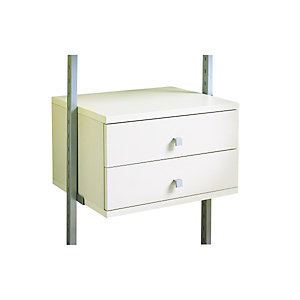Spacepro Small 2 drawer kit White - 550mm