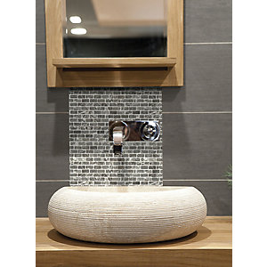 House of Mosaics Grey Brick Mosaic Tile Sheet - 305 x 305 mm