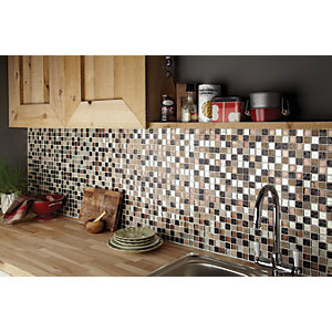 Wickes Autumn Glass & Stone Mosaic - 300 x 300mm