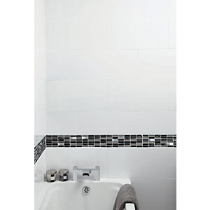 Wickes Cosmic Glass Stone & Metal Mosaic - 300 x 300mm